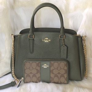💃Coach Set Sage Carryall and Wallet